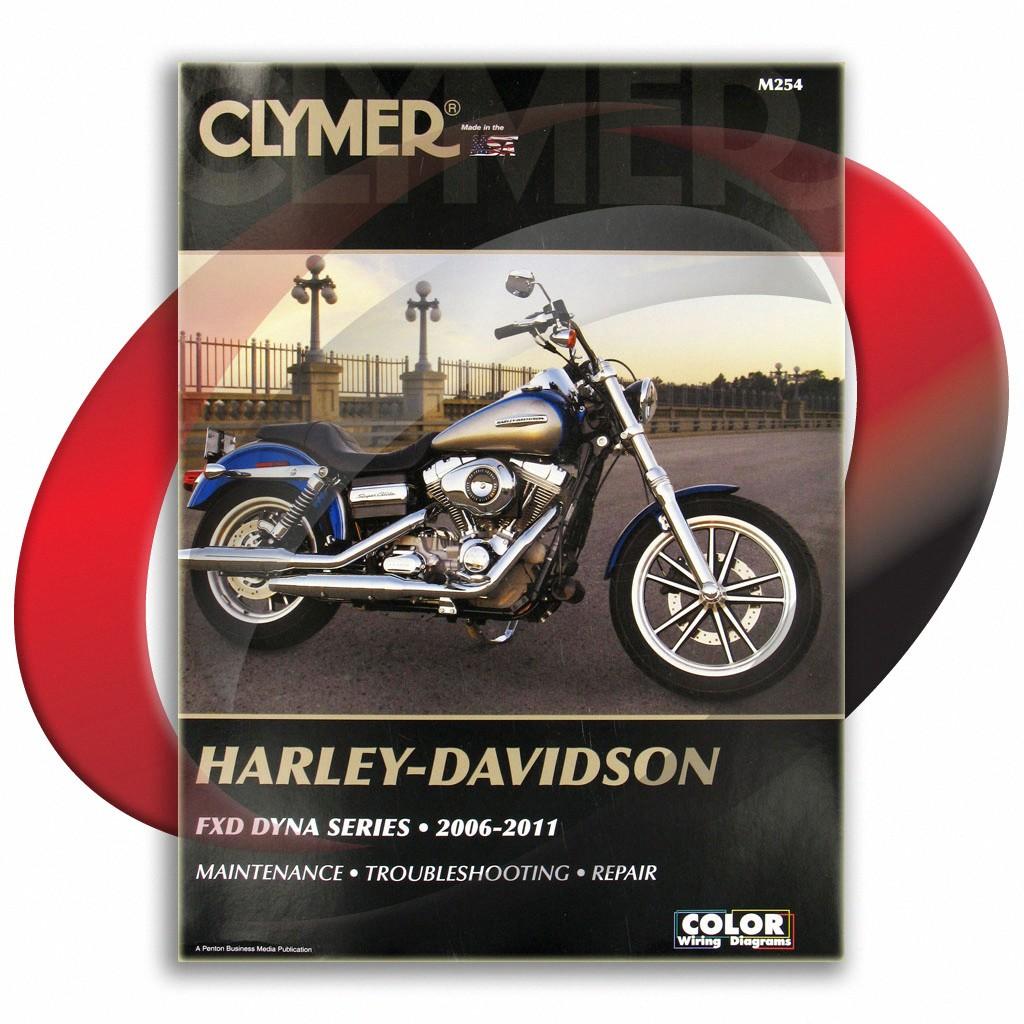 CLYMER SERVICE MANUAL HARLEY DAVIDSON M254 FXDWG DYNA WIDE GLIDE 2006 2007 2008