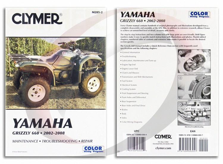 2002 2008 yamaha yfm660 f grizzly 660 repair manual clymer m285 2 rh ebay com Yamaha Grizzly 660 Service Manual Yamaha Grizzly 660 Repair Manual