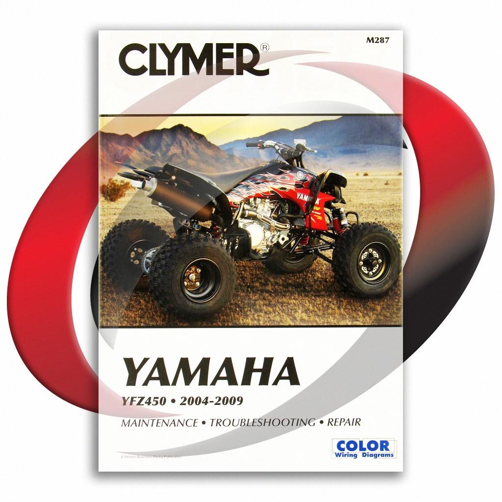 free wiring schematic 2005 yfz 2004 2009 yamaha yfz450 repair manual clymer m287 service shop  2004 2009 yamaha yfz450 repair manual