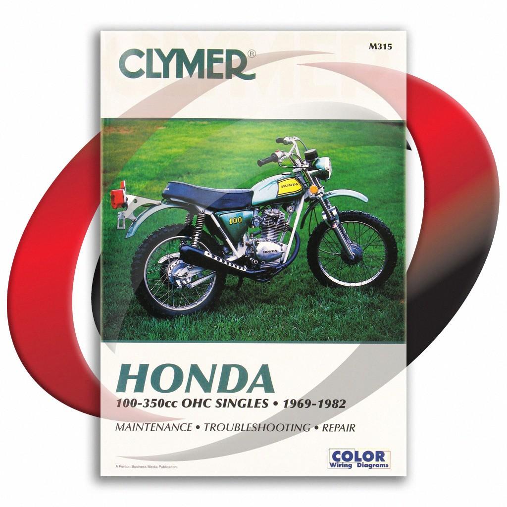 details about 1974-1978 honda xl100 repair manual clymer m315 service shop  garage maintenance