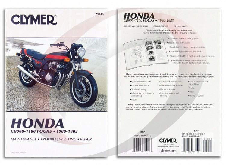 1980 1982 honda cb900c repair manual clymer m325 service shop garage rh ebay com honda cb900c owners manual honda cb900c owners manual