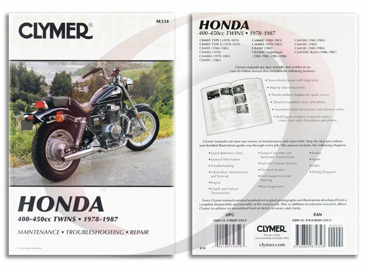 1979 1981 honda cm400t repair manual clymer m334 service shop garage rh ebay com 1979 Honda CM400T 1979 honda cm400t repair manual