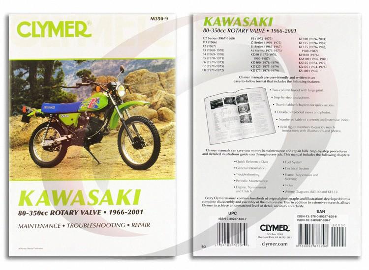 1976 2001 kawasaki ke100 repair manual clymer m350 9 service shop rh ebay com service manual 2001 kawasaki ke100 service manual 2001 kawasaki ke100