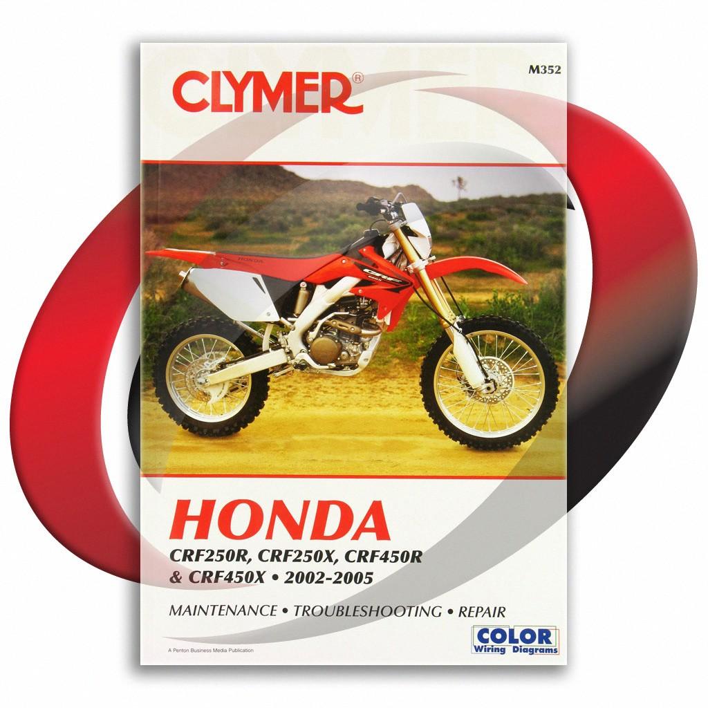 2004-2005 honda crf250r repair manual clymer m352 service shop garage