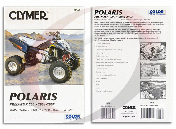 2005-2006 Polaris Predator 500 Troy Lee Designs Repair Manual ...
