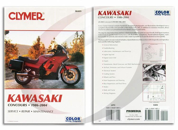 Clymer Repair Manual For Kawasaki Zg1000 Concoursgtr1000 19862004