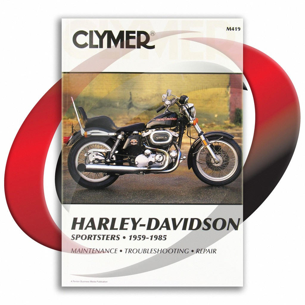 1959-1985 Harley Davidson Sportster H CH XL XLX XLS CLYMER REPAIR ...