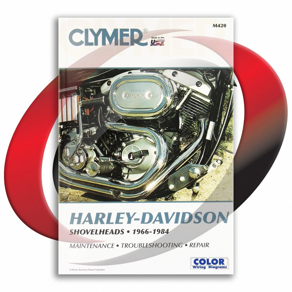 1980-1984 harley davidson fxb shovelhead repair manual clymer m420 service  shop