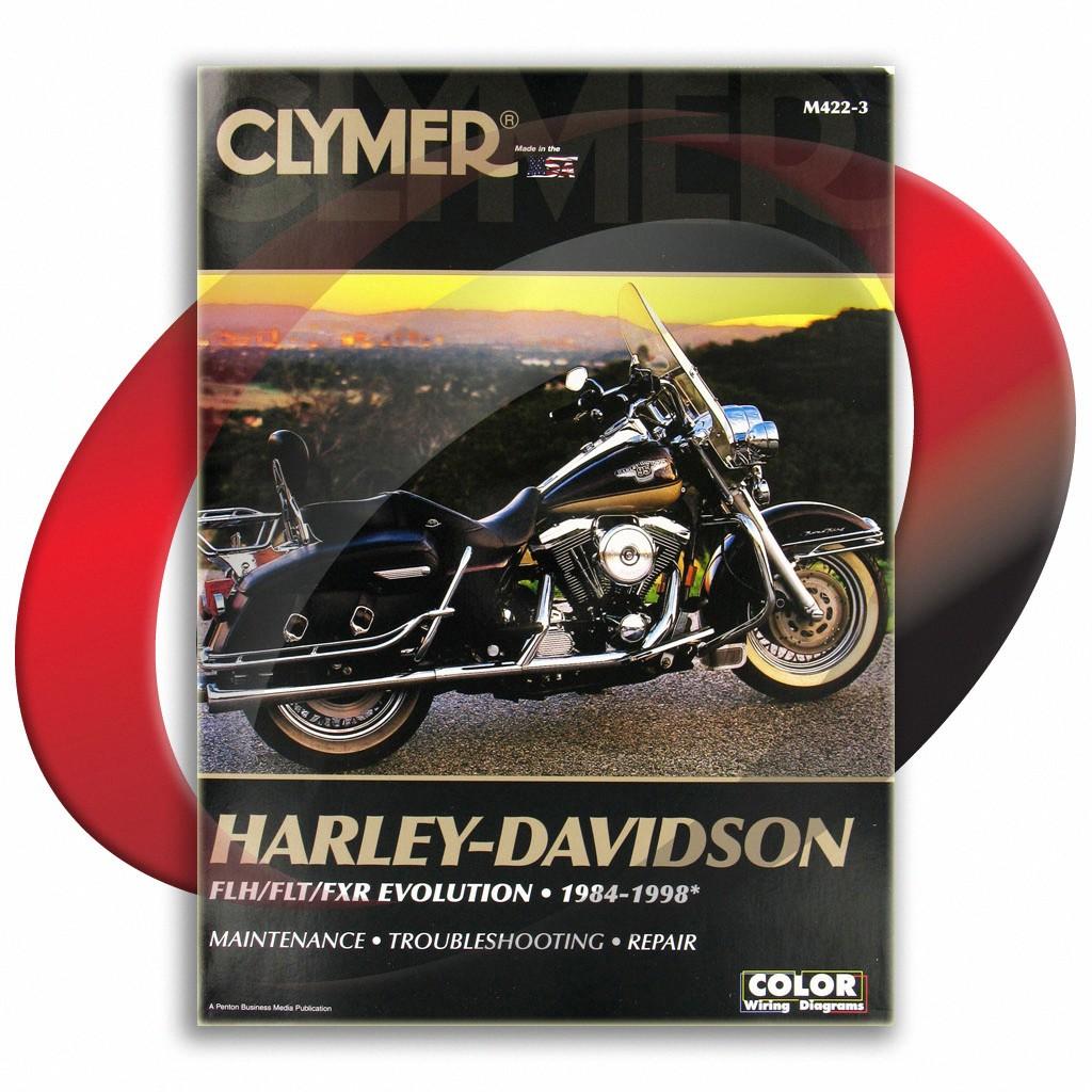 1989-1995 harley davidson fltc-u tour glide-ultra classic repair manual  clymer