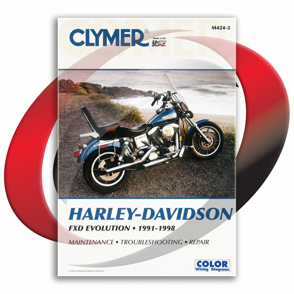 1993-1998 harley davidson fxdl dyna low rider repair manual clymer m424-2