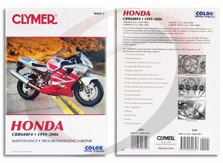 2001 2006 honda cbr600f4i repair manual clymer m445 2 service shop rh ebay com honda cbr 600 f4 manual pdf honda cbr 600 f4i owners manual pdf