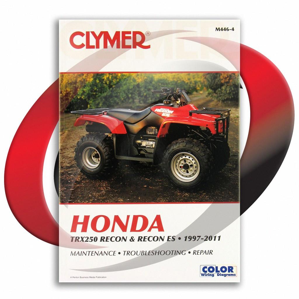 Clymer Repair Shop Manual Honda Trx 250 250 Recon Recon ES 1997-2011 M446-4