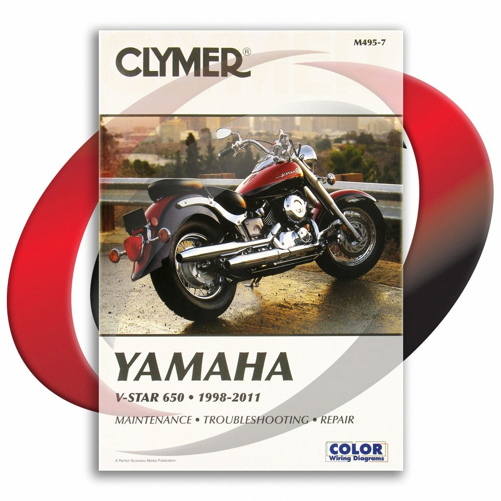 details about 1998-2011 yamaha v-star 650 classic repair manual clymer  m495-7 service shop