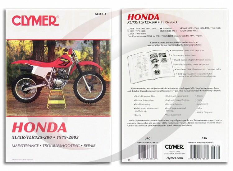 1990 2003 honda xr200r repair manual clymer m318 4 service shop rh ebay com honda xr200 service manual free honda xr200 service manual