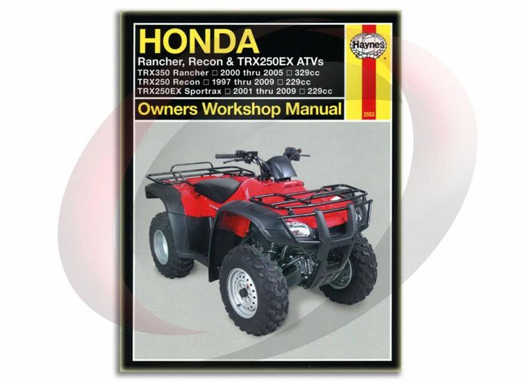 honda 2001 thru 2005 trx250ex atv service repair manual