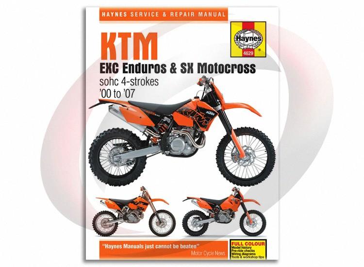 041000574unpackaged 2003 2006 ktm 450 mxc haynes repair manual 4629 shop service garage