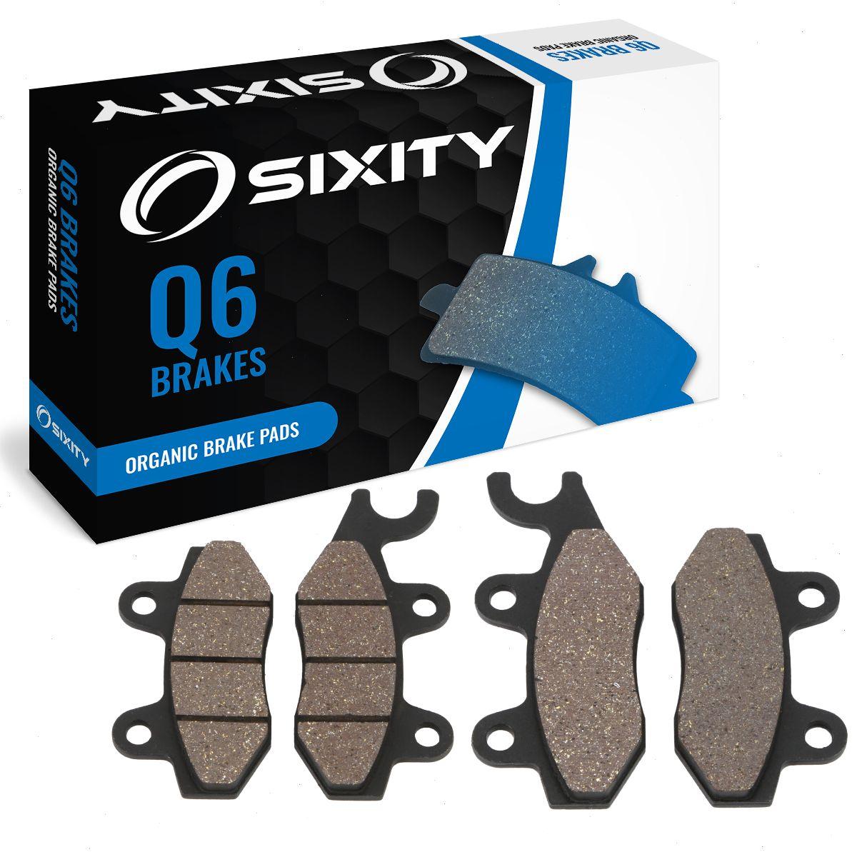 Front Rear Organic Brake Pads 2006-2009 KYMCO MXU500 Set Full Kit 4x4 gc