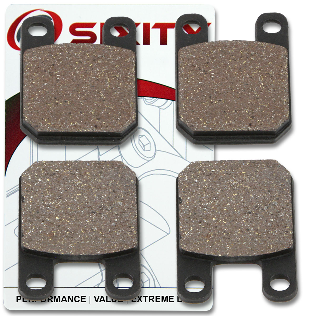 Front Rear Organic Brake Pads 2011 Kawasaki EX650 Ninja 650R Set Full Kit sx