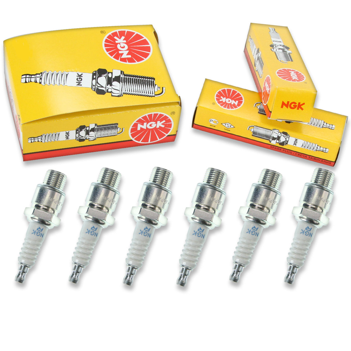 New NGK Standard Spark Plug BUZHW2 2173 Set of 4 Spark Plugs